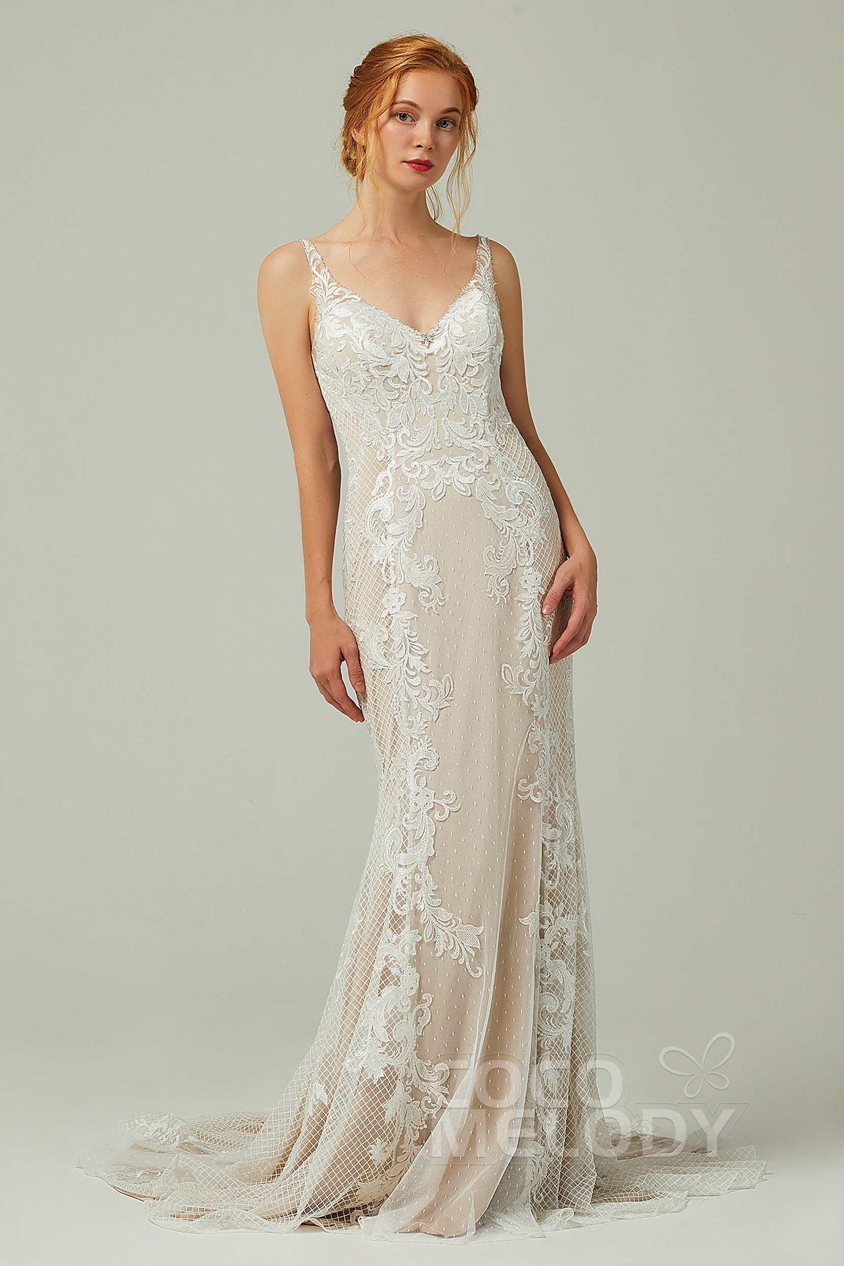 89c1cbb4a8 Sheath & Column Wedding Dress | Cocomelody®