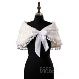 Timeless Ivory Wool Wedding Wrap AC4024