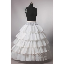 Ball Gown Floor-Length Medium Fullness Slip 4 Hoops Polyester Taffeta Wedding Petticoats CP0013009