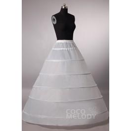 A-Line Floor-Length Medium Fullness Slip 6 Hoops Polyester Taffeta Wedding Petticoats CP001300A