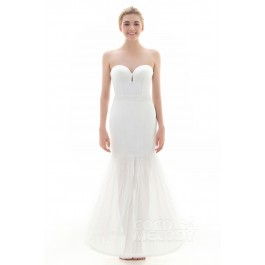Trumpet-Mermaid Floor-Length Mermaid and Trumpet Gown Slip 1 Hoop Tulle Wedding Petticoats CP0016009