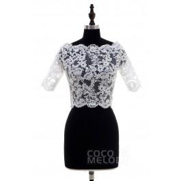 Fashion Ivory Lace Half Sleeve Wedding Wrap CX0015004