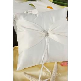Unique Satin Ivory Wedding Ring Pillow SJZ15014