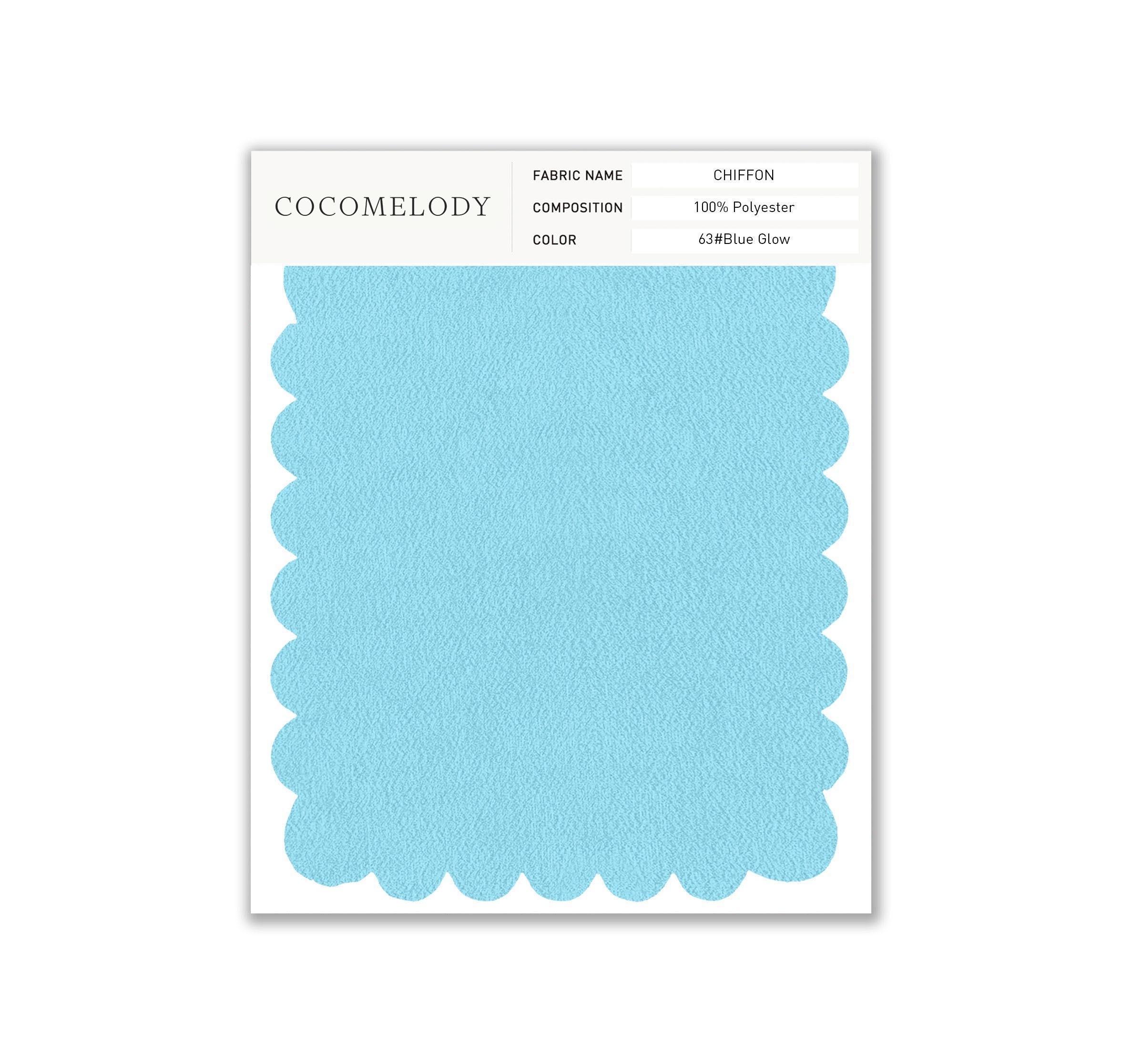 Chiffon Fabric Swatch in Single Color SWCH16001