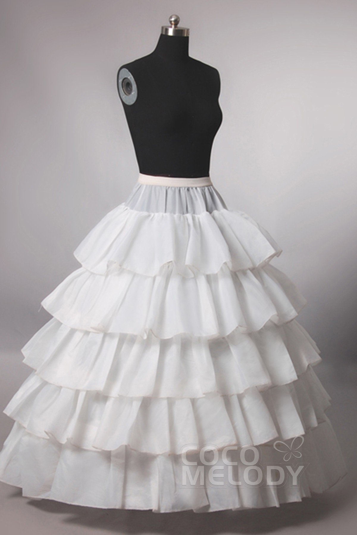Ball Gown Floor-Length Medium Fullness Slip 4 Hoops Polyester Taffeta Wedding Petticoats CP0013009