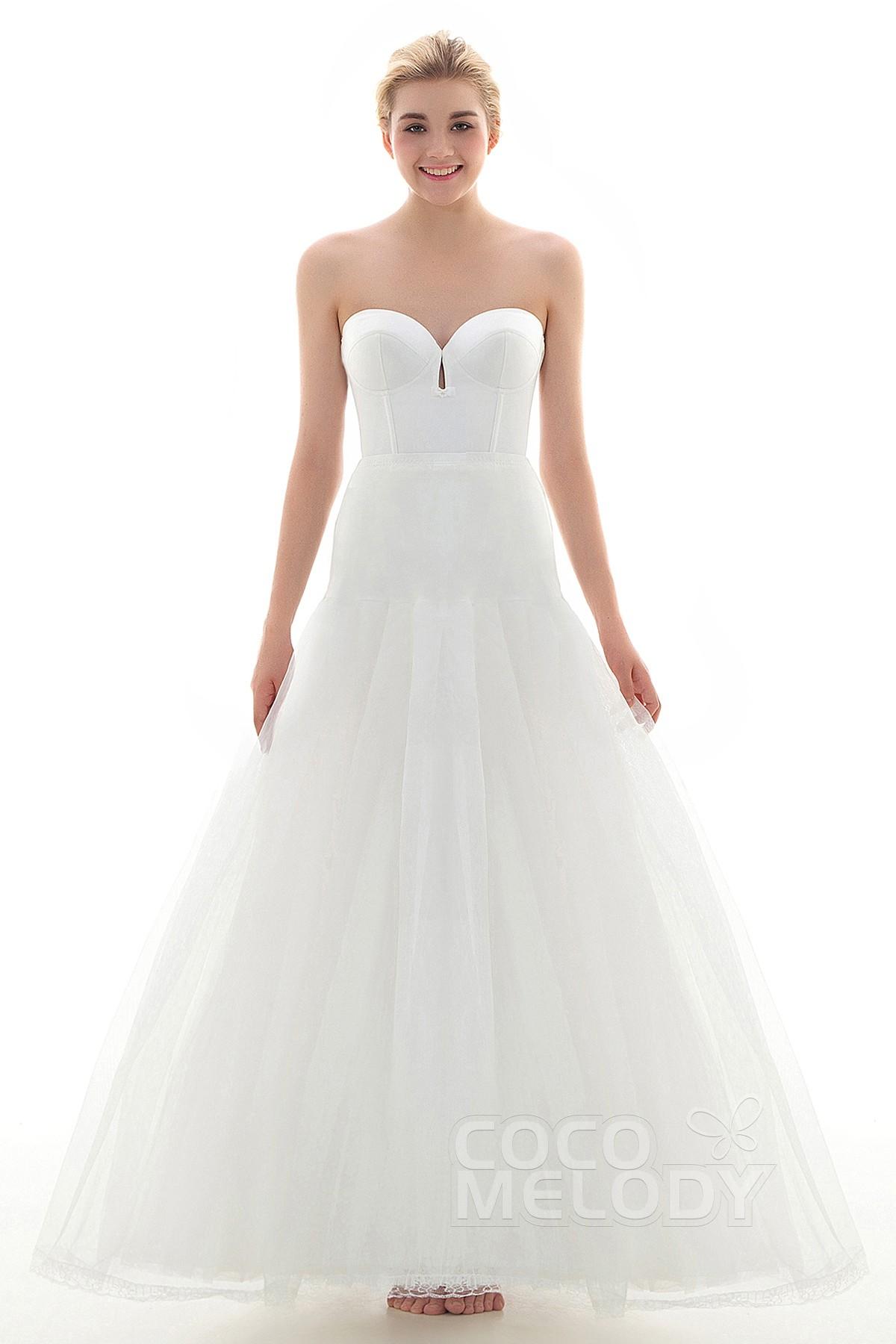 A-Line Floor-Length Medium Fullness Slip Tulle Wedding Petticoats CP001600D