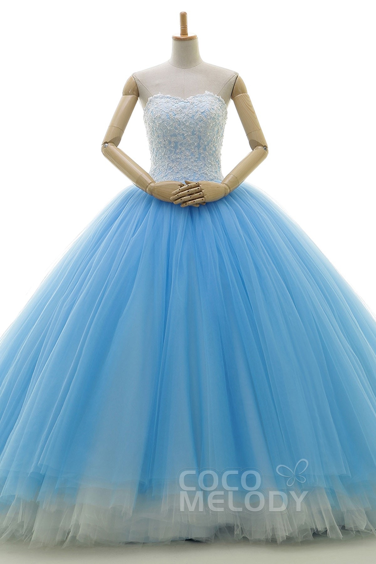 Cocomelody: Princess Chapel Train Tulle Wedding Dress Beading ...