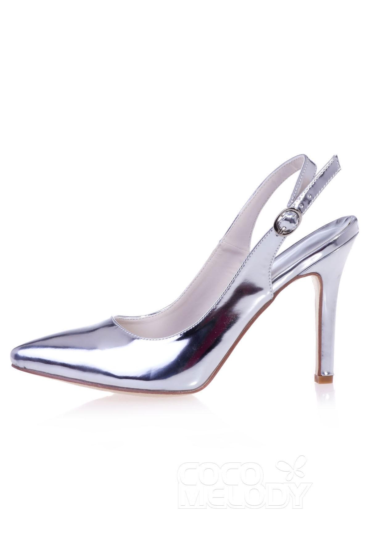 PU Stiletto Heel 9.8cm Heel Pointed Toe Dress Shoes DS16024