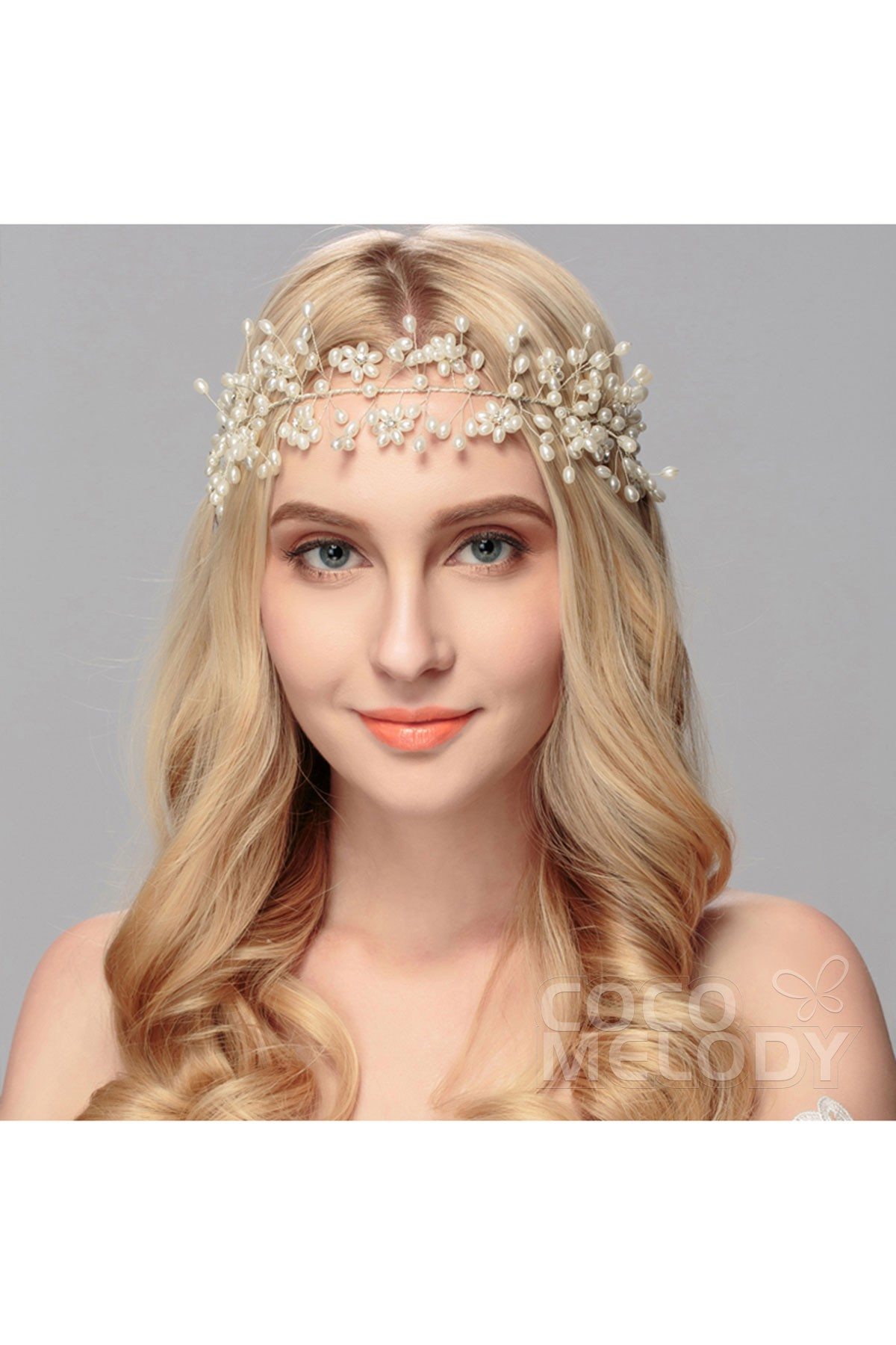 Sweet Silver Cloud Alloy Wedding Headpiece with Crystal and Imitation Pearl HS-J2888