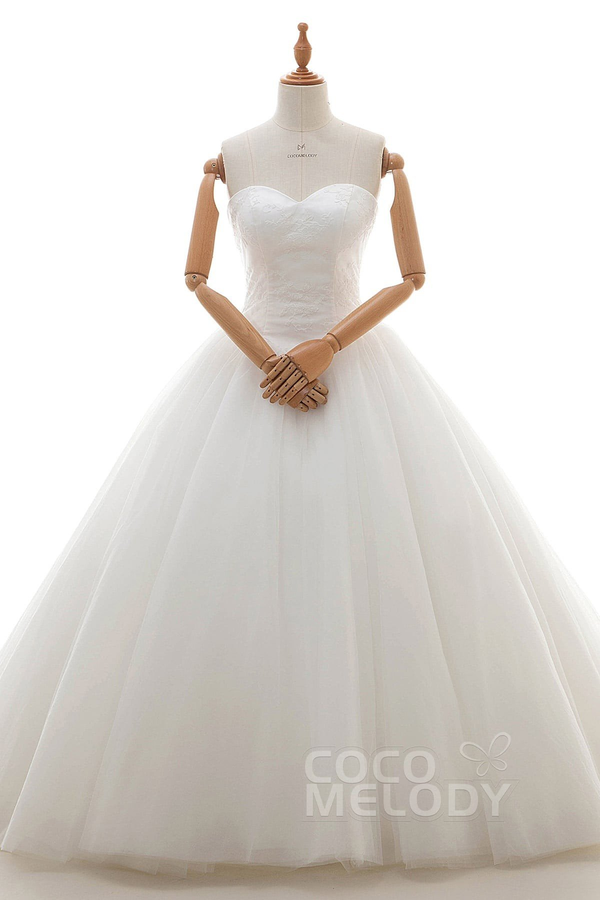Latest Princess Sweetheart Natural Court Train Tulle and Lace Ivory Sleeveless Lace Up-Corset Wedding Dress with Appliques LD4254