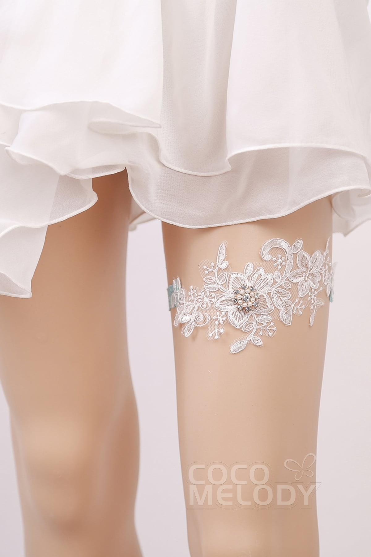 Lace And Pearls Wedding Shoes