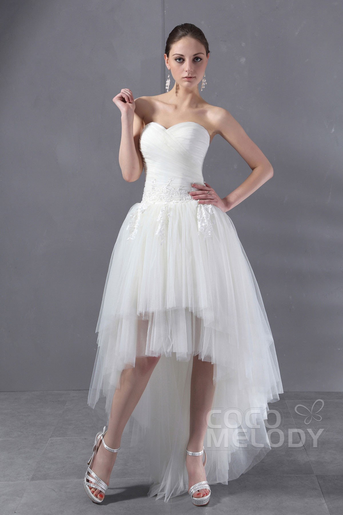Hi low tulle wedding dresses