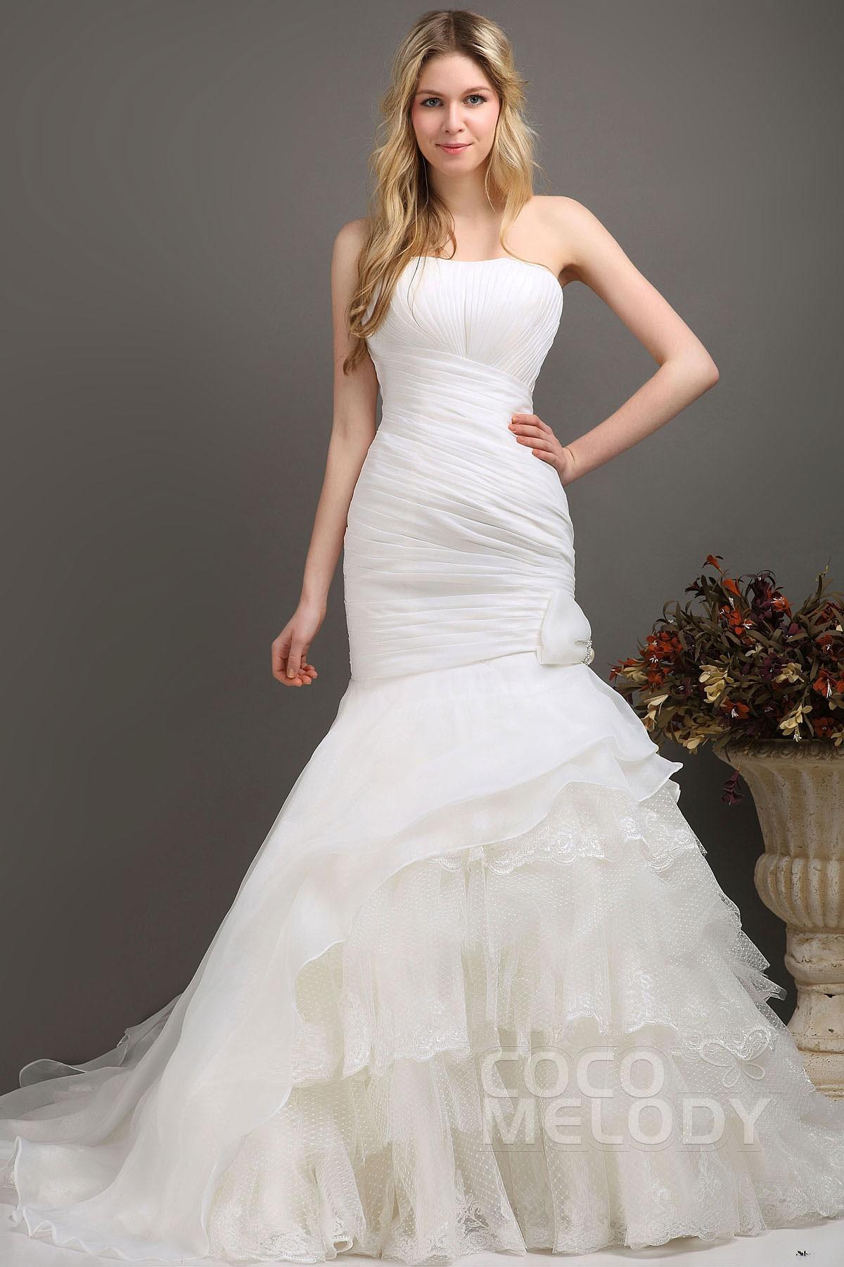 Trumpet-Mermaid Sweetheart Chapel Train Organza Wedding Dress ...