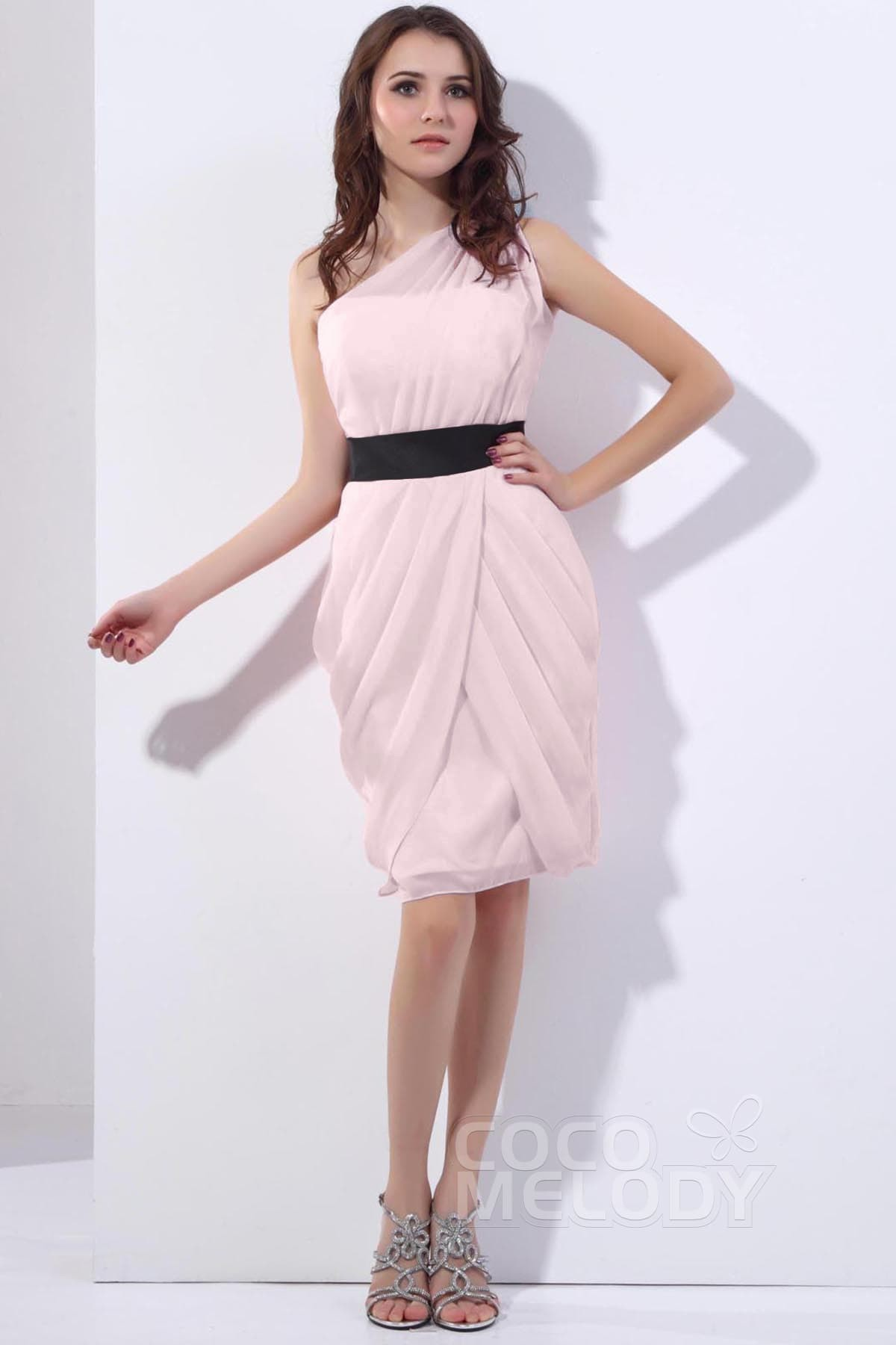 Divine sheath column one shoulder knee length chiffon bridesmaid divine sheath column one shoulder knee length chiffon primrose pink bridesmaid dress cozk13008 ombrellifo Gallery