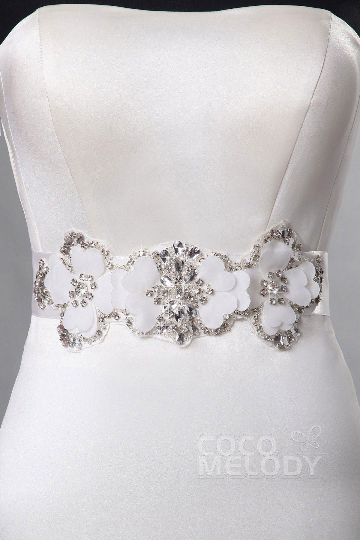 Queenly Bridal Sash With Crystal CB0013018