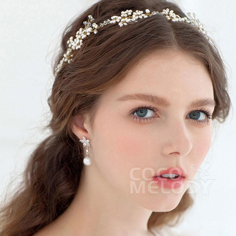 Sparkling Ivory Alloy Wedding Headpieces HP15068