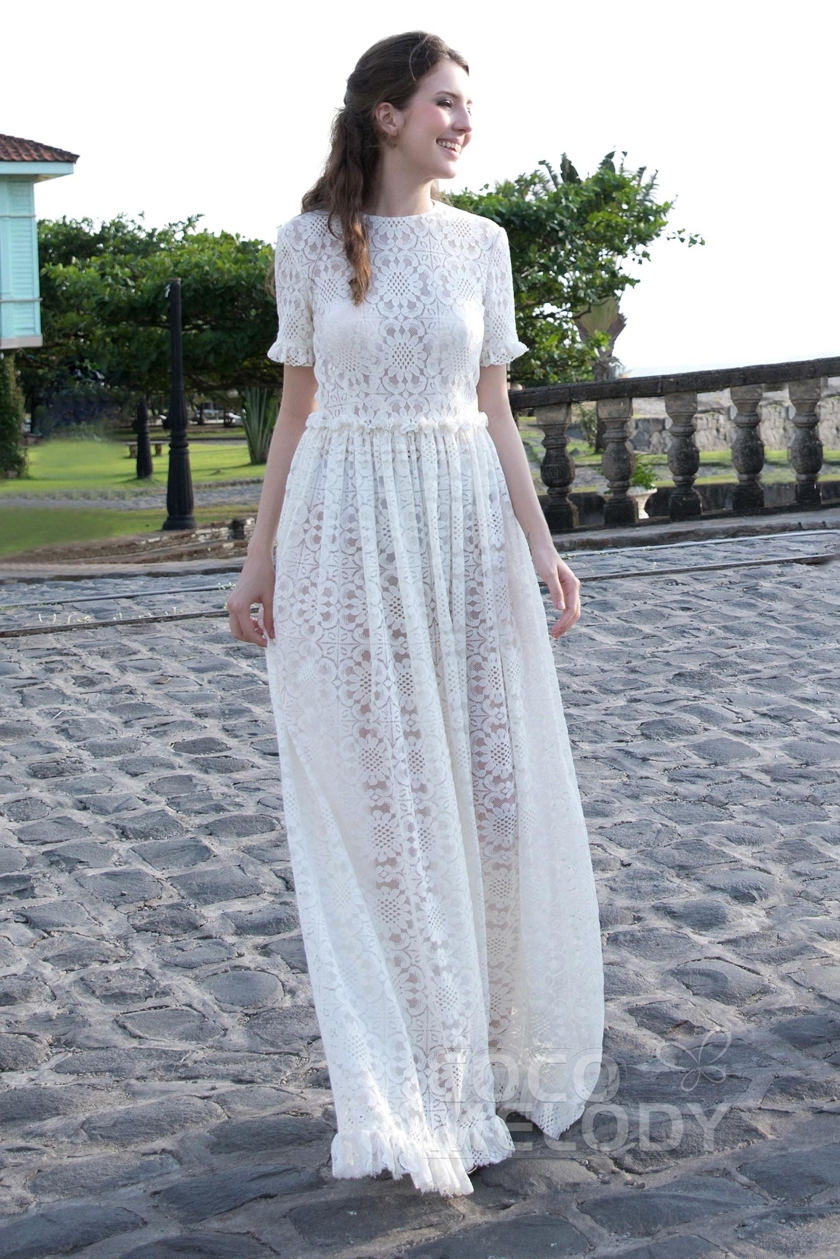 Cocomelody: A-Line Floor Length Elastic Silk like Satin Wedding ...