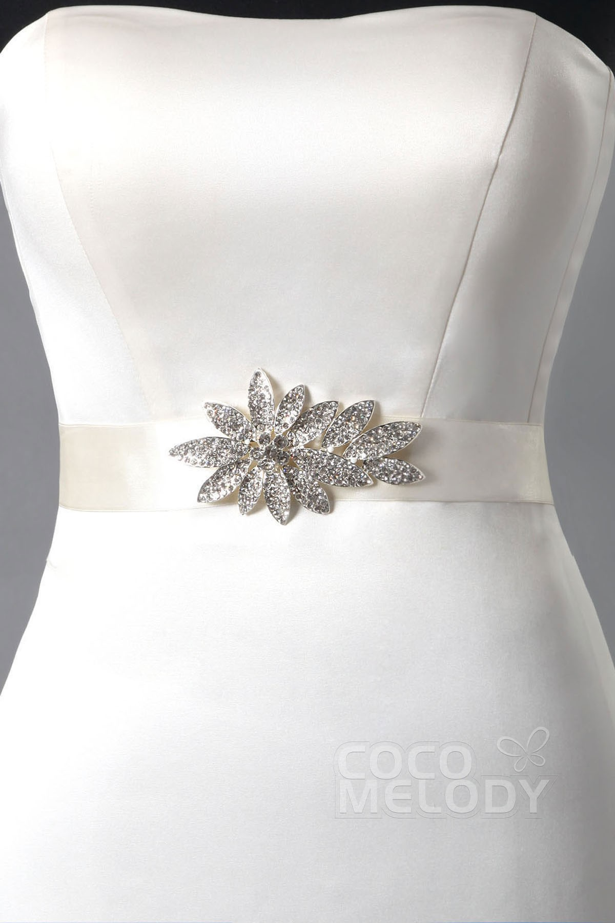 Delicate Bridal Sash With Crystal CB0013001