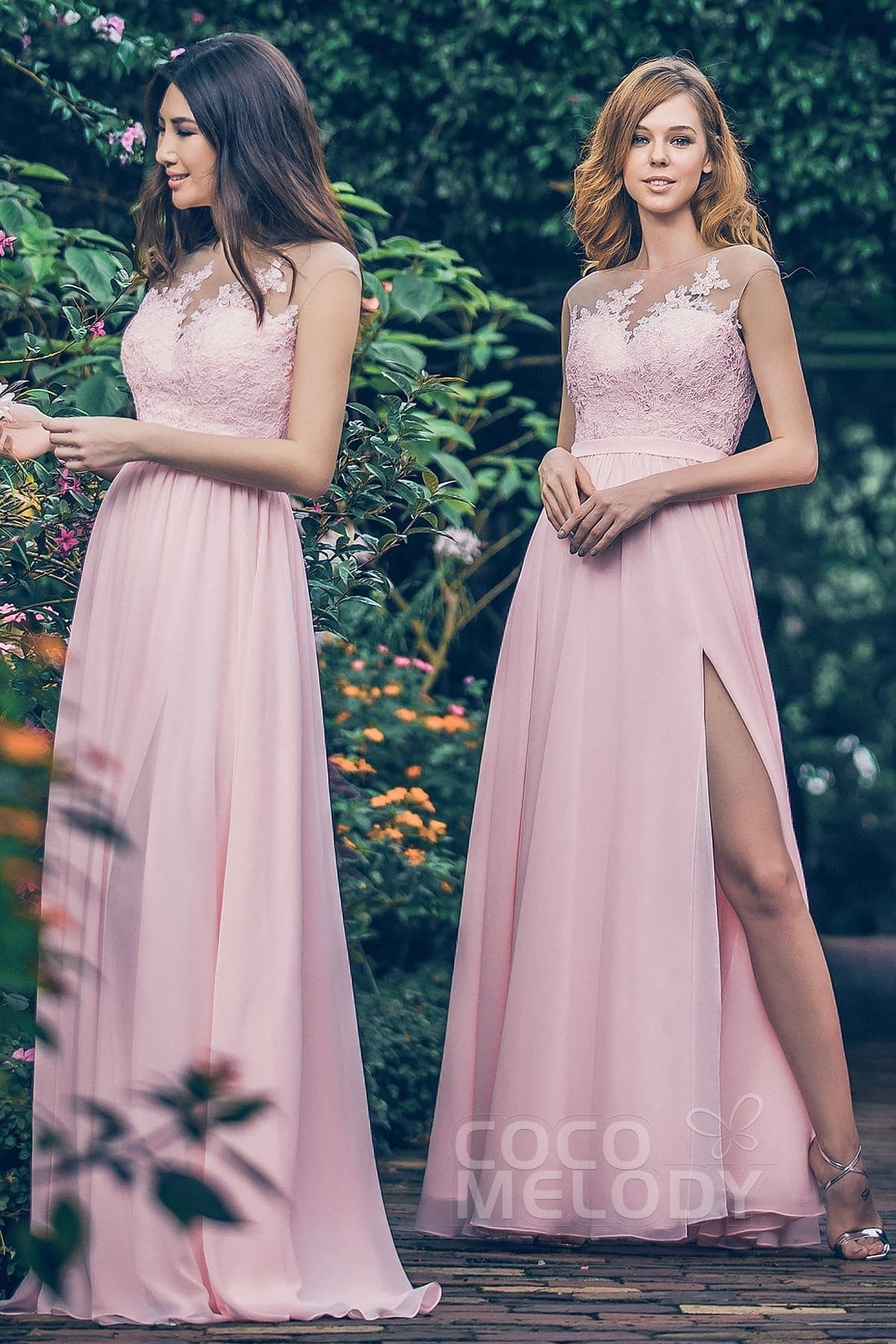 Lace and Chiffon Bridesmaid
