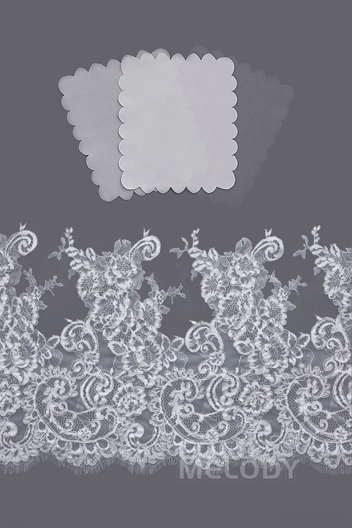 Cocomelody: LD3832 Bridal Gown Fabric Swatch | CocoMelody