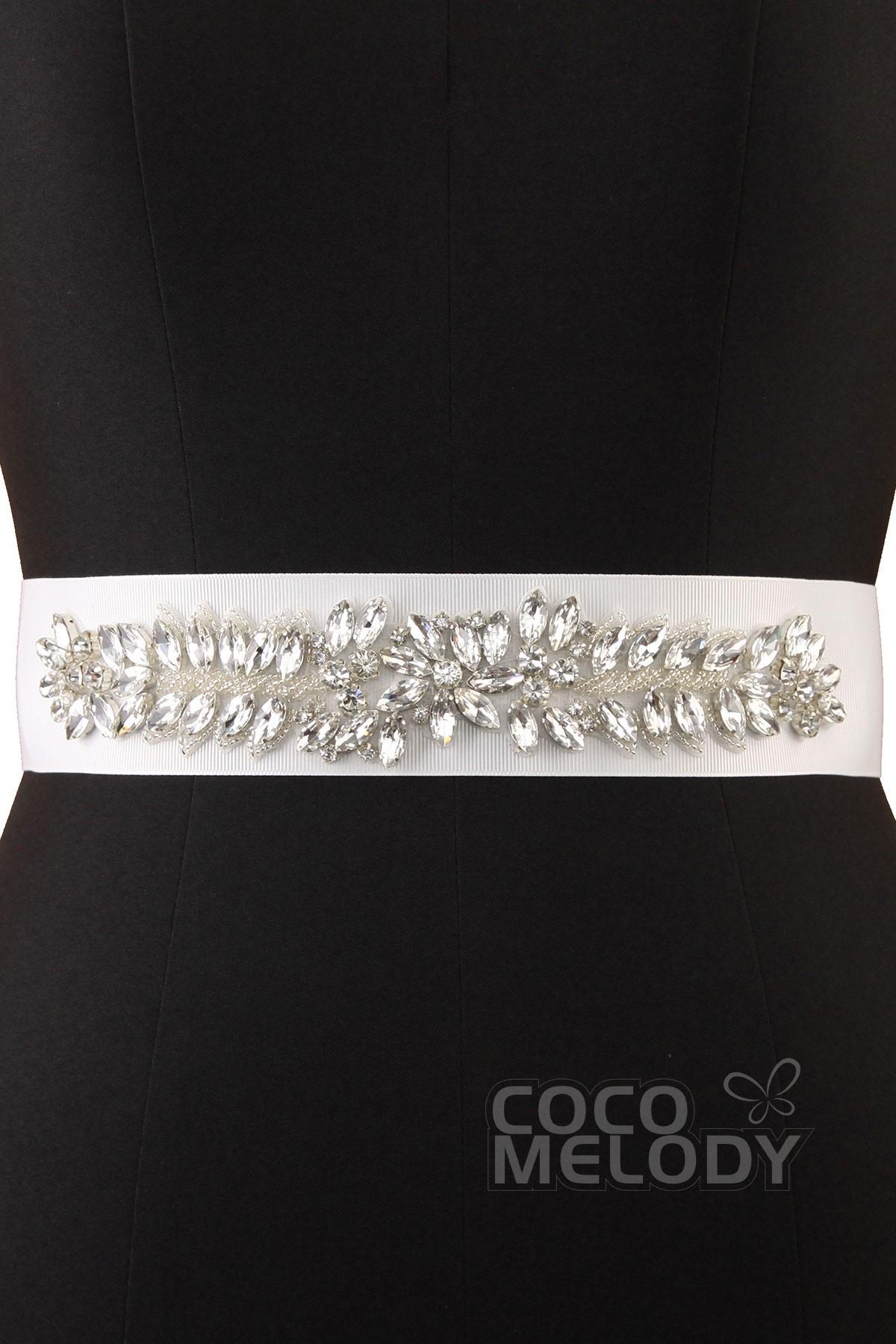 Cute Wedding Sash With Crystals YD4519
