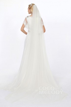 Cute Two-tier Tulle Ivory 300cm*150cm Chapel Veils AC1290