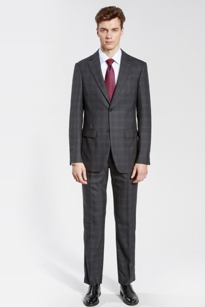 Black Checked Reda Two-Piece Suit ID-187