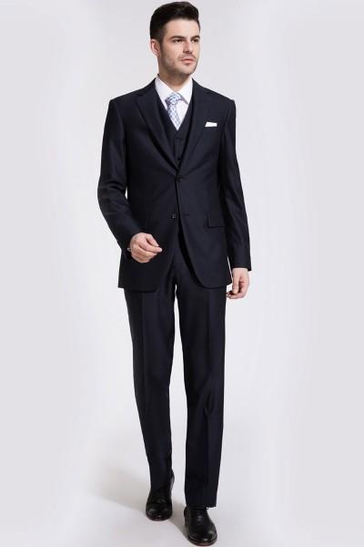 Dark Navy Blue Glow Two-Piece Suit ID-192
