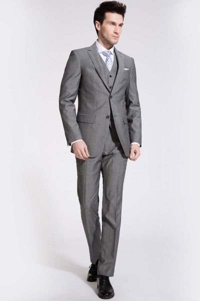 Classic Flint Gray Two-Piece Suit ID-200