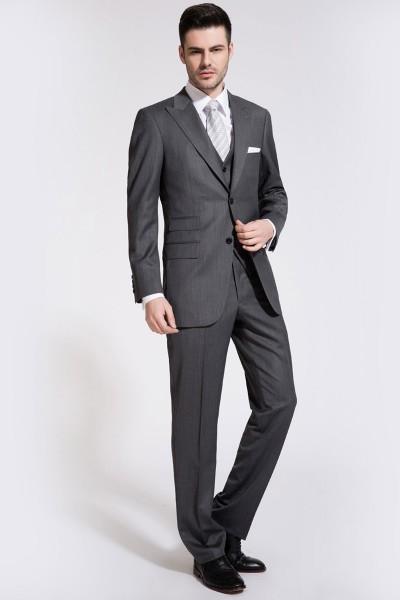 Flint Gray Zegna Two-Piece Suit ID-207