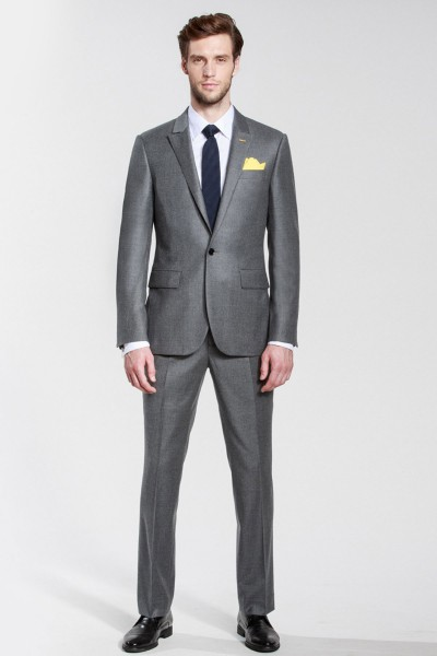 Seattle Flint Gray Casual Two-piece Suit ID-497