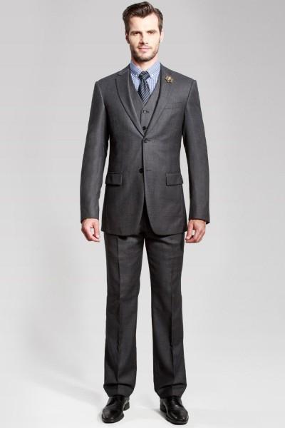 Oxford Black Three-piece Suit ID-60