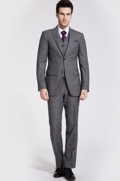 Windsor Flint Gray Three-piece Suit ID-62