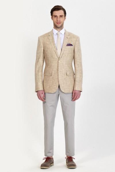 Fashion Camel Linen Blazer ID-680