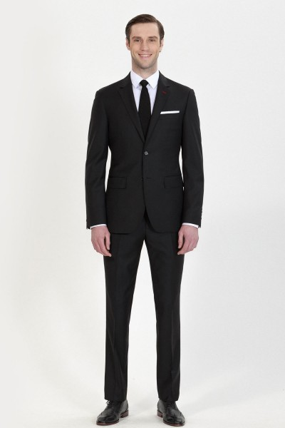 Classic Black Two-piece Suit ID-692