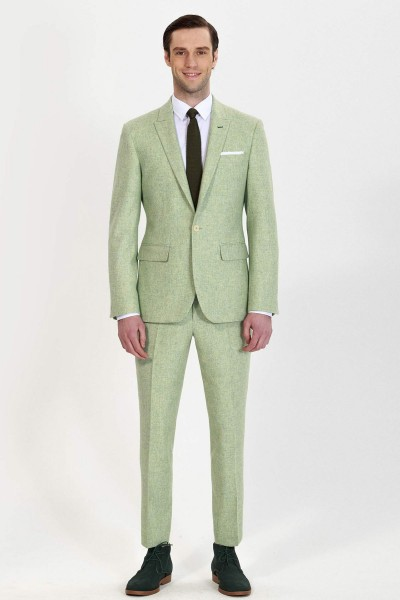 Glacier Fashion Two-piece Suit with Ankle Length Pants ID-800