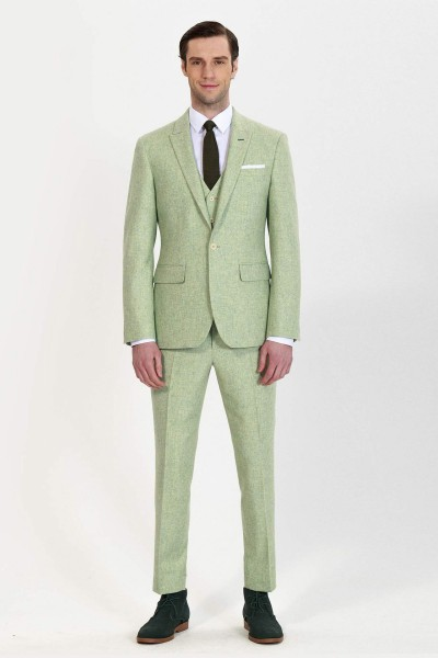 Glacier Fashion Three-Piece Suit with Ankle Length Pants ID-801