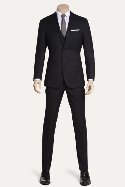 Pinstriped Three-Piece Suit ID-824