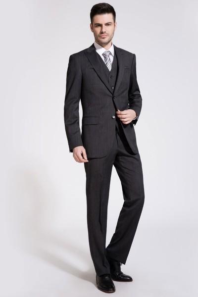 Black Three-Piece Suit ID-82