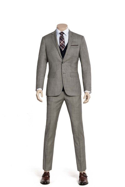 Flint Gray Twill Two-piece Suit ID-981