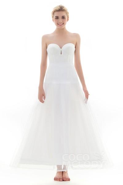 A-Line Floor-Length Short Flare Slip 1 Hoop Tulle Wedding Petticoats CP0013001