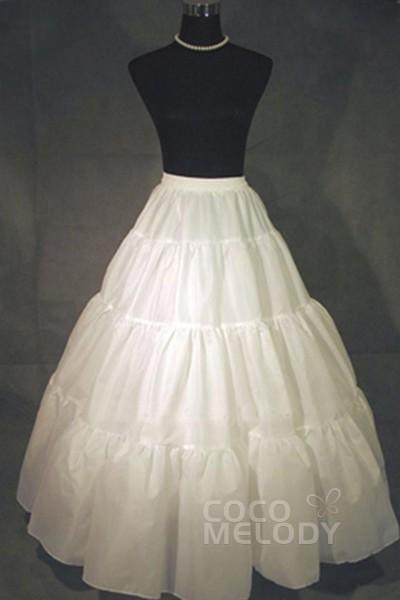 A-Line Floor-Length Medium Fullness Slip Polyester Taffeta Wedding Petticoats CP0013002