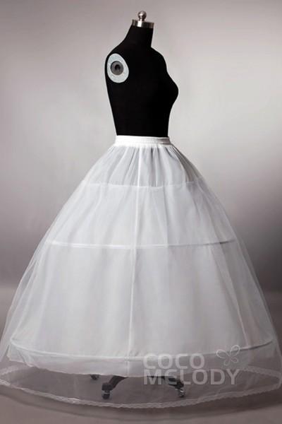Ball Gown Floor-Length Medium Fullness Slip 2 Hoops Tulle Wedding Petticoats CP0013005