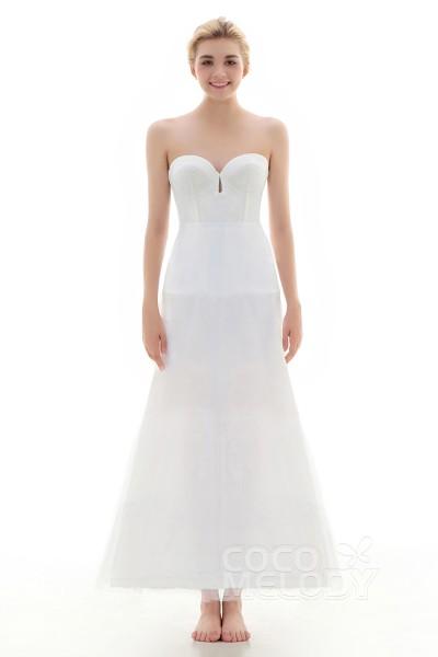 A-Line Floor-Length Short Flare Slip 2 Hoops Tulle Wedding Petticoats CP0013006