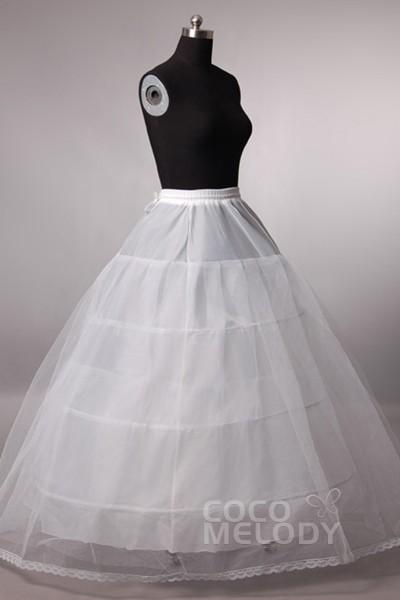 Ball Gown Floor-Length Medium Fullness Slip 3 Hoops Tulle Wedding Petticoats CP0013007