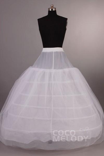 Ball Gown Floor-Length Medium Fullness Slip 6 Hoops Tulle Wedding Petticoats CP001300B