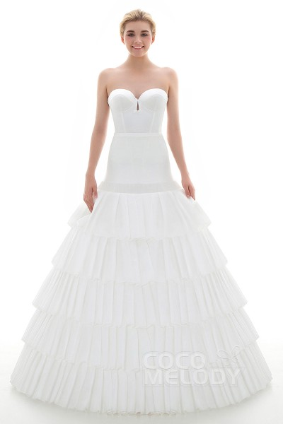 Ball Gown Floor-Length Medium Fullness Slip 5 Hoops Polyester Taffeta Wedding Petticoats CP0016004