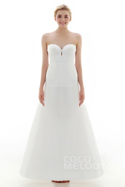A-Line Floor-Length Medium Fullness Slip 1 Hoop Mesh Wedding Petticoats CP0016006