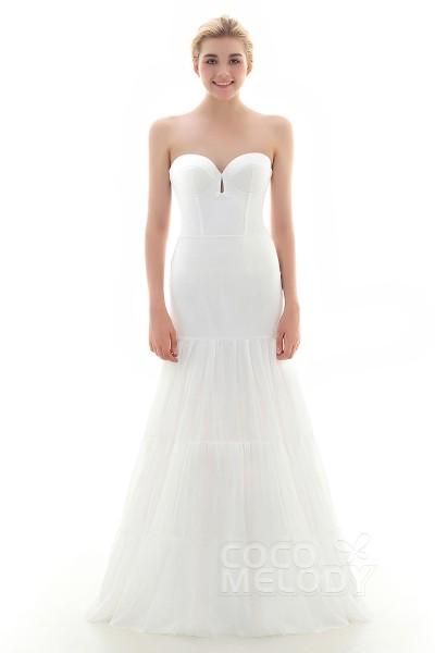 A-Line Floor-Length Medium Fullness Slip 2 Hoops Mesh Wedding Petticoats CP0016007