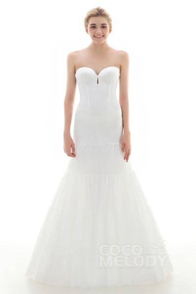 A-Line Floor-Length Medium Fullness Slip 2 Hoops Polyester Taffeta Wedding Petticoats CP0016008